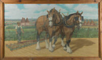 Bill Gall A.R.C.A - Signed & Framed Mid 20th Century Oil, The Gentle Giants