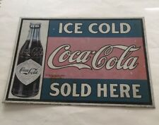 ICE COLD COCA COLA SOLD HERE SIGN 1993