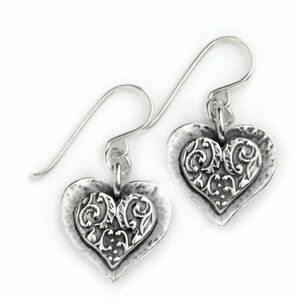Hand Made Aviv Jewellery Sterling Silver Heart Earring ASE694