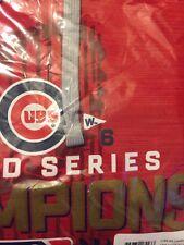 M- NWT Medium Chicago Cubs Majestic 2016 World Series Streak Fleece Red - Champs