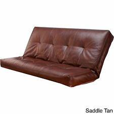 futon mattress cover full size leather sofa bed couch slip protector sleep brown brown futon covers   ebay  rh   ebay