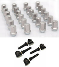 EZDealin GM Wheel Accessory Add-On Package - Set of 24 Lug Nuts & 4 TPMS Sensors