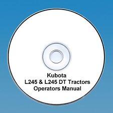 KUBOTA TRACTOR OPERATORS MANUAL L245 & L245DT