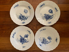 Royal Copenhagen Blue Flowers Braided Scalloped Salad Plate - Set Of 4 #1624