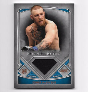 2017 Topps UFC Museum Conor McGregor SP #23/35 Meaningful Material Relic Copper