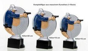 3er Serie Pokale Pistolenschütze ST3922678 (H=20-16cm) inkl.Gravur 46,75 EUR
