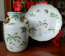 Chinese Porcelain Vase and Plate with Qianlong 4 Character Seal (lot of 2)