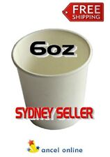 200 Cups 6oz White 177ml Single Wall Paper Cup Disposable Tableware Coffee Cup