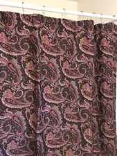 APRIL CORNELL - Dark Purple Paisley Shower Curtain French Cottage Chic