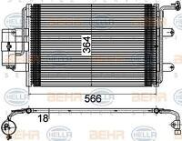 8FC 351 036-384 HELLA Kondensator Klimaanlage