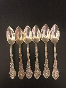 6 Vintage Gorham Versailles Sterling Fruit Spoons Period Monogram