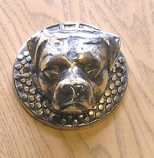 Boxer Dog Door Knocker Cast Brass Polished Finish