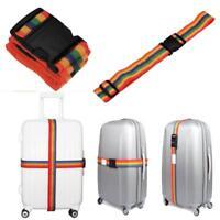 10Backpack Bag Luggage Suitcase Straps Baggage Rainbow Belt Adjustable New