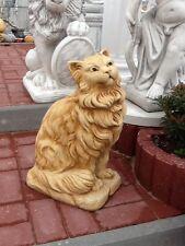 Gartenfiguren, Katze, Perser, 50 cm, Steinguss, Statuen, Tierfiguren, Gartendeko