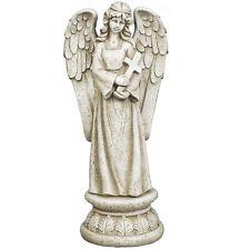 Gartenfigur Gartendeko Grabschmuck Engel mit Kreuz betend Grabengel ANG99808