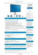 BlueNtastic Premium eBay Listing Template - Creative and 100% Responsive