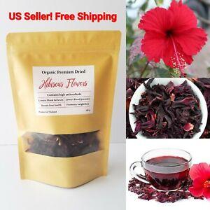Hibiscus Dried Natural Flowers Organic Herbal Tea Red 100g Premium Weight Loss