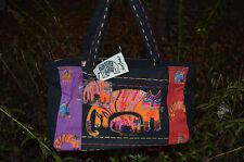 Laurel Burch CAT AND KITTEN Tote Bag/Handbag Sequin Accents  #LB 4382