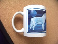 """ Mother Wolf Ii "" D.L. Valdes ceramic coffee mug cup"