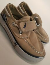 Nautica Toddler Boy's Little River  Boat Canvas Shoes Brown 8