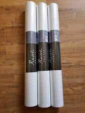 RASCH Vlies-Tapete, Streifen, silber-weiß, NEU