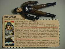 GI Joe VINTAGE 1983 Major Bludd Incomplete w/Bio C-6 Hasbo Cobra ARAmerican Hero