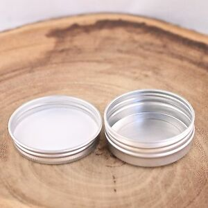 1 Oz Shallow Round Metal Tin Containers Cans for lip balm & craft storage (24)