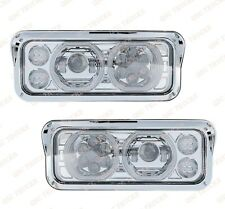 QSC Chrome Full LED Headlight Assembly Left Right Set for Peterbilt 378 379