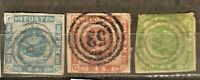 DENMARK  LOT Sc 2 2a 3 4 5by2   USED  FINE See DESCRIPTION SCAN