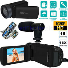 HD 1080p Digital Video Camera YouTube Live Stream Vlogging Recorder Microphone