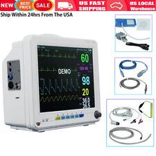 Vet 6parameter Patient Monitor Nibp Spo2 Ecg Temp Resp Pr Vital Signs Icu Ccu Us