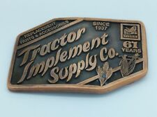 Tisco 61 Years Belt Buckle Vintage 1998 *Tractor Implement Supply Co*