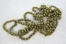 "Vintage Nice Gold Mercury Glass Bead Christmas Garland 75"" 1/4"" Beads 18ad"
