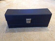 Vintage Retro Cassettes Tape Storage Holder Case 15 Cassettes Black