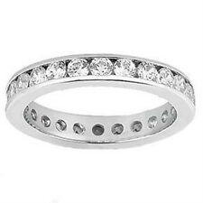 3.00 CT Round Diamond Eternity Wedding Band in 18k White Gold Channel Setting