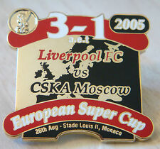 LIVERPOOL Victory Pins 2005 EUROPEAN SUPER CUP WINNERS Badge Maker Danbury Mint