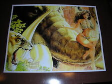 CAVEWOMAN: WOOLY THE MAMMOTH~COLOR ART PRNT DESIGN 27 HAND SIGNED BUDD ROOT 2027