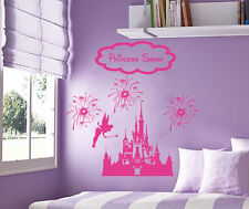 Princess Fairy Castle Disney fireworks Personalized vinyl wall decal sticker art