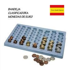 Vassoio plastica, per organizzare y classificare monete da euro in la negozio