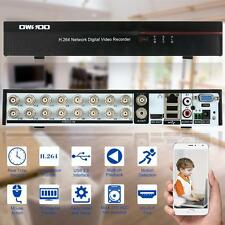 16 Channel D1 Surveillance H.264 DVR Security System HDMI PTZ Control EU M4Q7