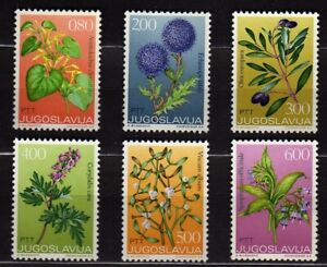 YUGOSLAVIA #1140-1145 MNH 1973 ISSUE OF MEDICINAL PLANTS SERIES
