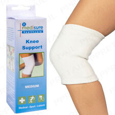 2x White Compression Bandage Sock Medium Elasticated Support Brace Arthritis Leg