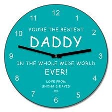 Personalised Youre the bestest Daddy Wall Clock - Birthday Fathers Day Gift 30cm