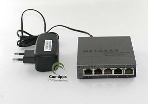 NETGEAR GS105E - 5 Port Plus Ethernet Switch bis 1 GBit/s