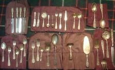 33 pc Heirloom Collection S. KIRK Schofield STIEFF Sterling Silver ROSE REPOUSSE