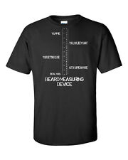 BEARD Measuring Device Yuppie to Real Man Funny Men's Tee Shirt 864