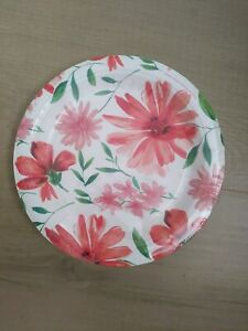 Pier 1 Imports Exclusive Paper Floral Snack Plates 8 Ct 24 plates pink flowers