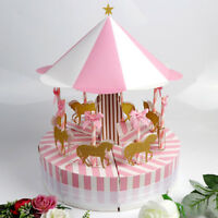 Ribbon Carousel Candy Box Sweets Gift Boxes Wedding Party Baby Shower Birthday