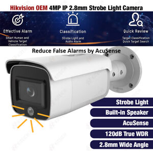 Hikvision DS-2CD2T46G1-4I/SL OEM 4MP IP Strobe Light AcuSense WDR Bullet Camera