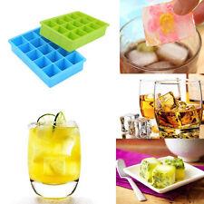 2er Set Eiswürfelform Eiswürfelbehälter Eiswürfelbereiter Silikon 15 fach Form